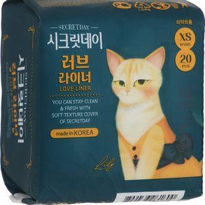 Прокладки гигиенические Secretday, Корея., 20 шт, xs (зеленые).jpg