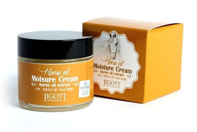 Jigott Cream Horse Oil Увлажняющий крем с Лошадиным маслом 70 мл..jpg