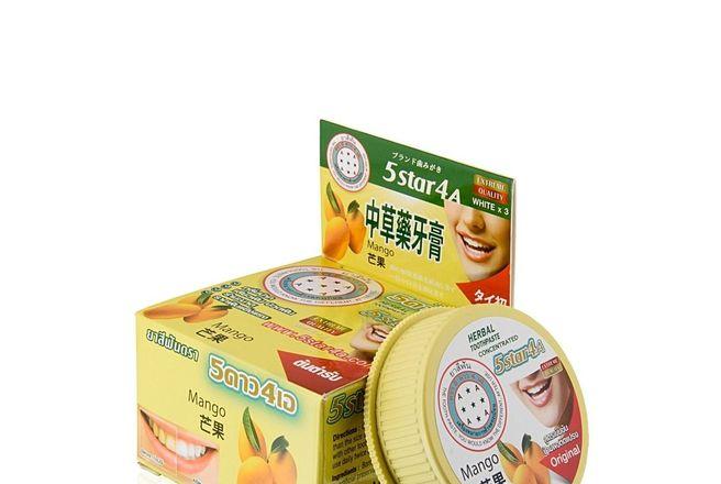 5Star4A Травяная отбеливающая зубная паста с экстрактом Манго 25 гр..jpg