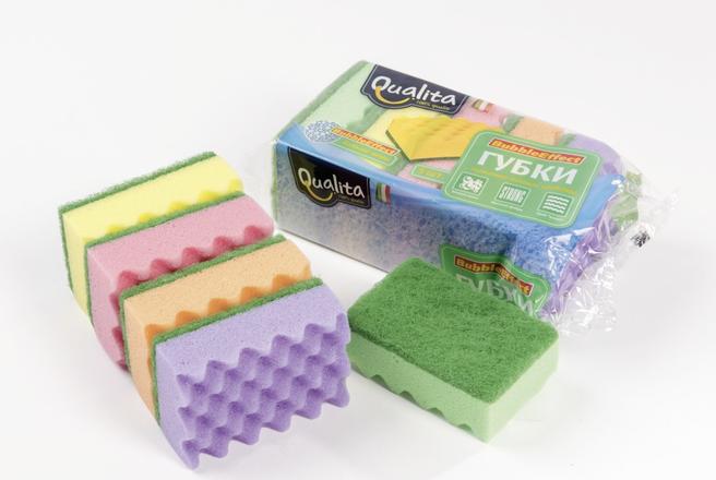 Qualita губки кухонные Bubble Effect.png