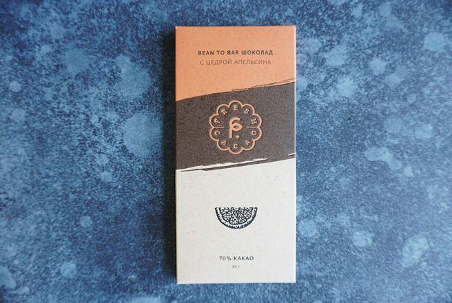 Горький ремесленный шоколад, 70 % какао, серия «Крафт» с цедрой апельсина.jpeg