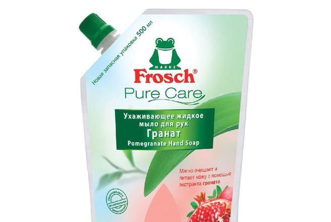 добавка Frosch Ухаживающее жидкое мыло для рук Гранат 500мл.jpg
