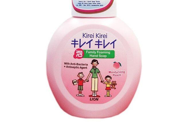 LION Kirei Kirei Пенное мыло для рук флакон-дозатор (розовый персик).jpg