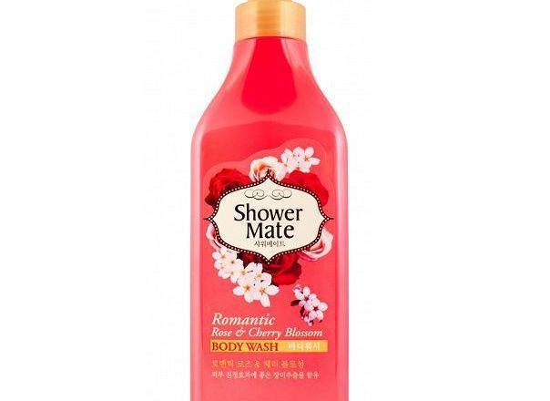 Aekyung Shower Mate Romantic Rose & Cherry Blossom Гель для душа Роза и Цветущая вишня.jpg
