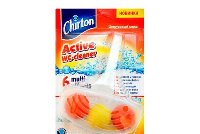 Подвесной очиститель для унитаза (шарики) Чиртон Цитрусовый Микс.jpg